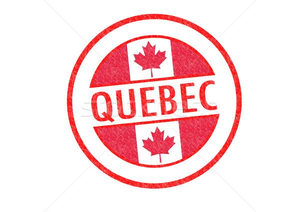 Quebec witte stad vlag vakantie Stockfoto © chrisdorney
