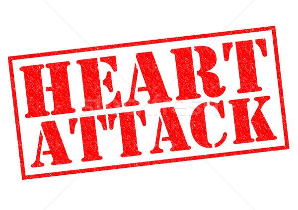 Ataque cardíaco vermelho branco dor doente Foto stock © chrisdorney