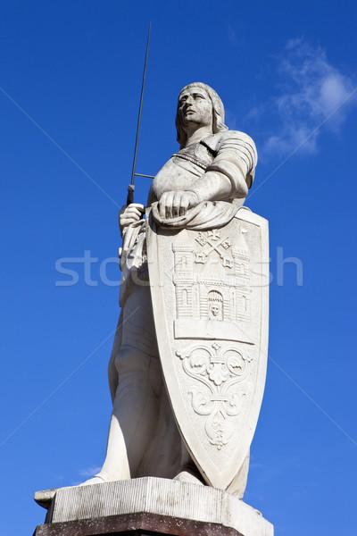 статуя Рига святой Латвия город правосудия Сток-фото © chrisdorney