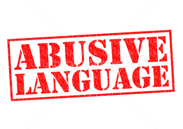 ABUSIVE LANGUAGE Stock photo © chrisdorney