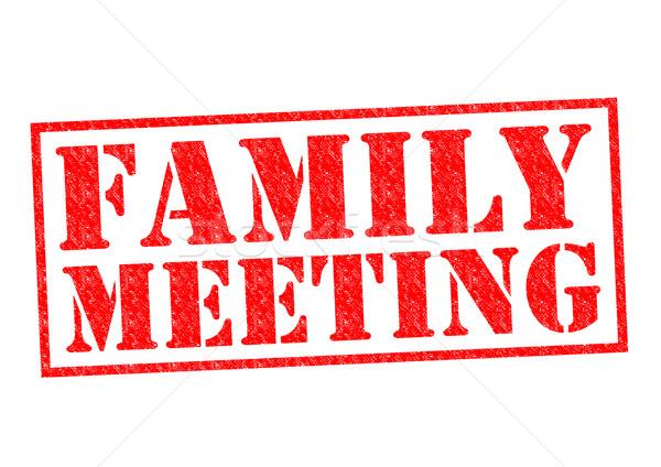 Família reunião vermelho branco crianças Foto stock © chrisdorney