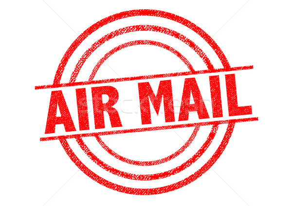AIR MAIL Rubber Stamp Stock photo © chrisdorney