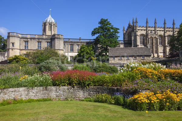 Photo stock: Christ · église · jardin · oxford · vue · collège