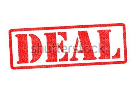 Acuerdo blanco negocios contrato financieros Foto stock © chrisdorney