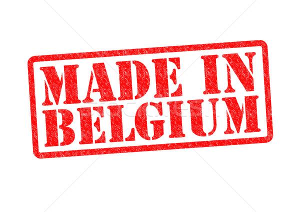 Belgia biały czerwony budować gumy Zdjęcia stock © chrisdorney