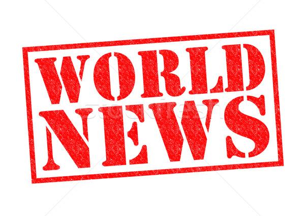 Stockfoto: Wereld · nieuws · Rood · witte · geld