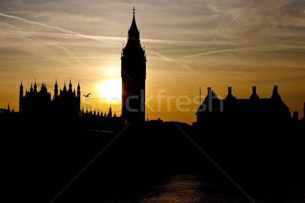 Вестминстерский закат мнение Лондон небе солнце Сток-фото © chrisdorney
