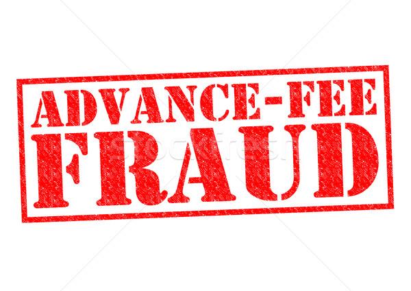 Fraude vermelho branco dinheiro lei Foto stock © chrisdorney