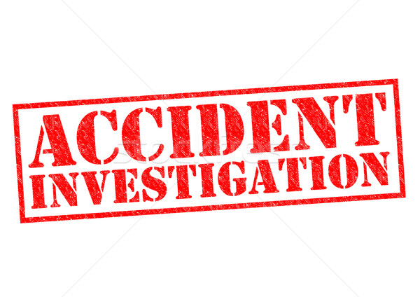 ACCIDENT INVESTIGATION Stock photo © chrisdorney