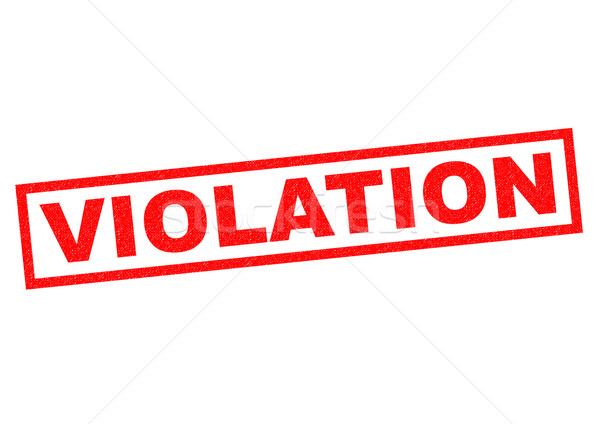 VIOLATION Stock photo © chrisdorney