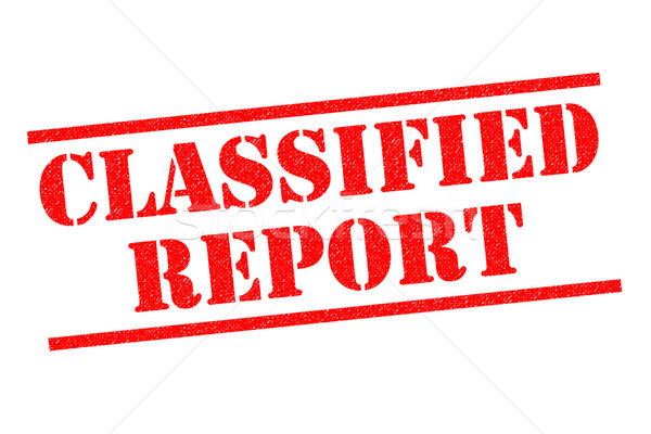 CLASSIFIED REPORT Rubber Stamp Stock photo © chrisdorney