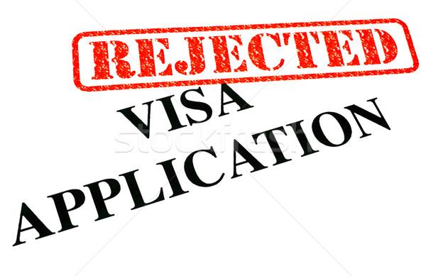 Visa aplicação documento papel lei Foto stock © chrisdorney