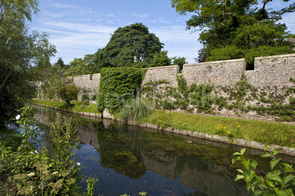 Bishop's Palace Moat in Wells Stock photo © chrisdorney