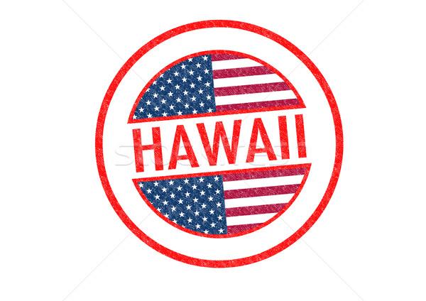 Hawaii beyaz bayrak ada tatil Stok fotoğraf © chrisdorney
