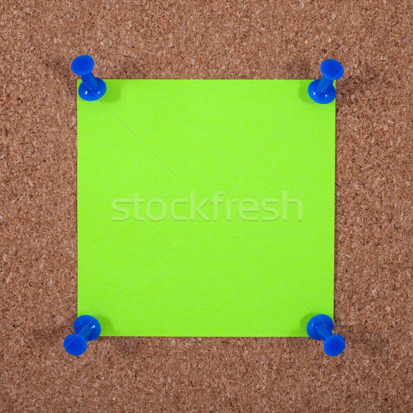 Blank Note Paper Pinned to a Noticeboard Stock photo © chrisdorney