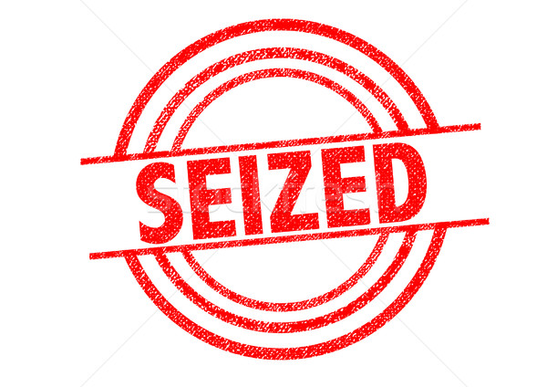 SEIZED Rubber Stamp Stock photo © chrisdorney