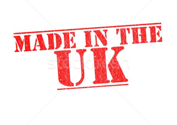 Biały czerwony budować gumy Unii Zdjęcia stock © chrisdorney