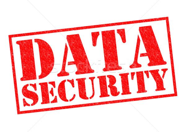 Segurança de dados vermelho branco computador tecnologia Foto stock © chrisdorney