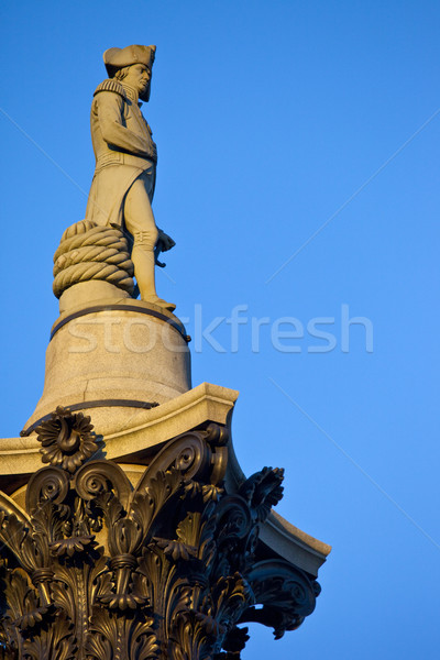 Admiral Nelson ontop of Nelson's Column in Trafalgar Square Stock photo © chrisdorney