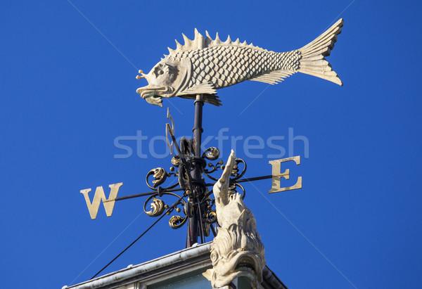 рыбы флюгер старые рынке Лондон красивой Сток-фото © chrisdorney