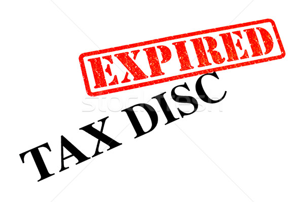 Tax Disc EXPIRED Stock photo © chrisdorney