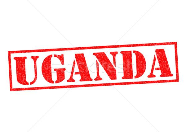 Uganda pecsét fehér vakáció gomb címke Stock fotó © chrisdorney