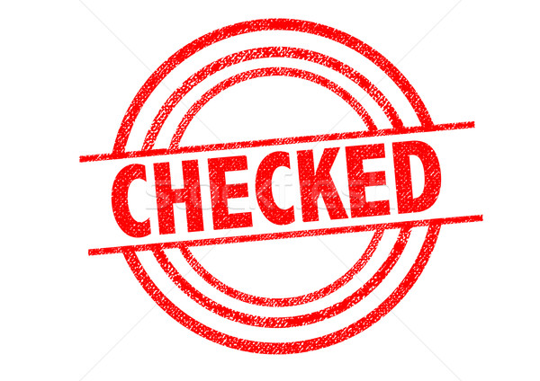 CHECKED Rubber Stamp Stock photo © chrisdorney