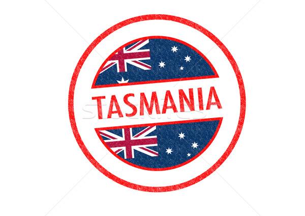 Tasmanië witte vakantie knop paspoort Stockfoto © chrisdorney