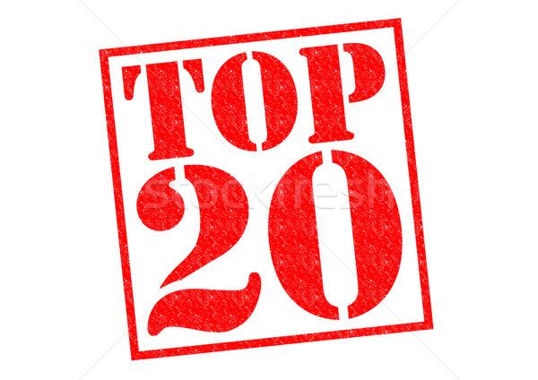 Top 20 красный белый музыку Сток-фото © chrisdorney