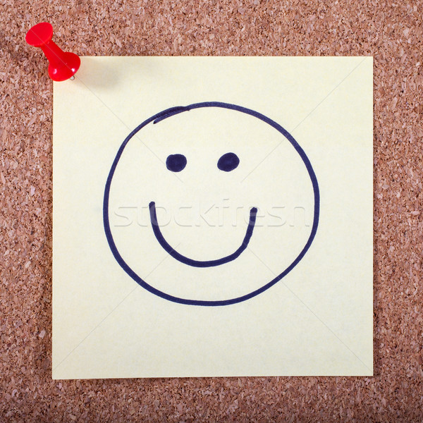 Happy Face Pinned to a Noticeboard Stock photo © chrisdorney