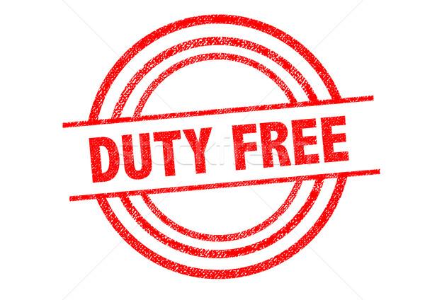 Kötelesség szabad pecsét fehér bolt címke Stock fotó © chrisdorney
