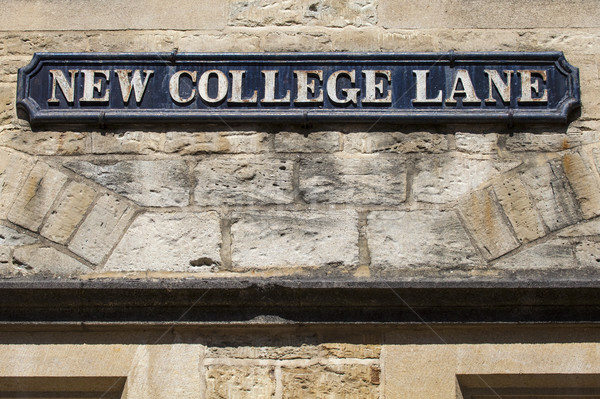 Nuevos universidad oxford placa de la calle histórico Foto stock © chrisdorney