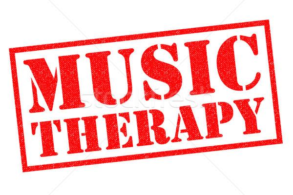 Stockfoto: Muziek · therapie · Rood · witte · medische