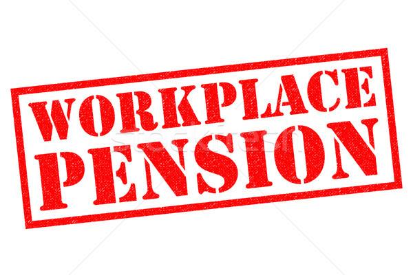 Local de trabalho pensão vermelho branco trabalhando Foto stock © chrisdorney