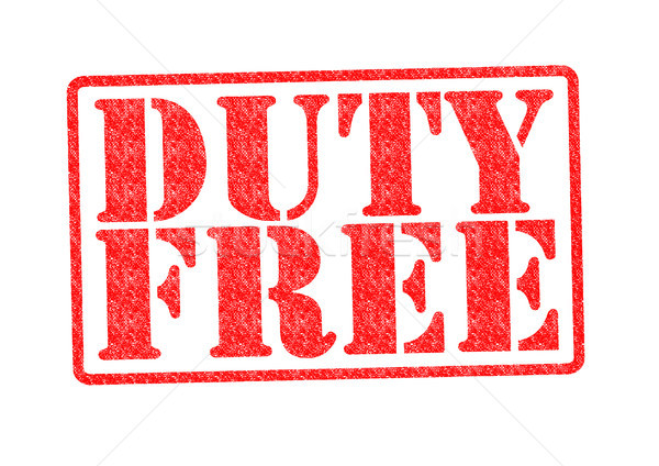 DUTY FREE Rubber Stamp Stock photo © chrisdorney