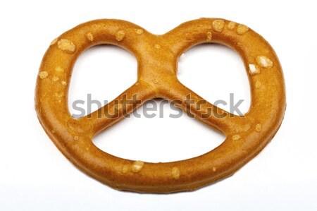 Tuzlu kraker ekmek yalıtılmış Stok fotoğraf © chrisdorney
