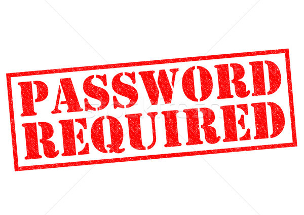 PASSWORD REQUIRED Stock photo © chrisdorney