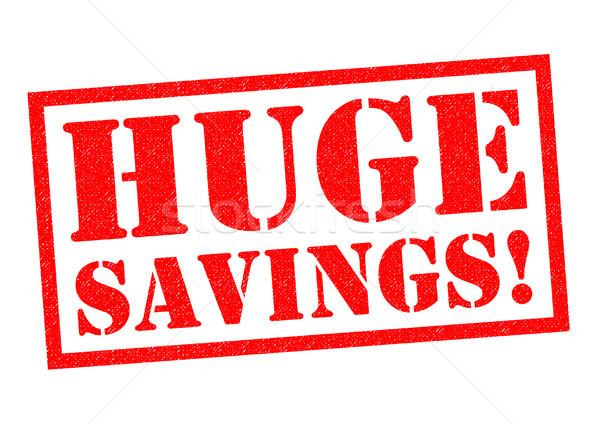 巨大な 貯蓄 赤 白 ショップ ストックフォト © chrisdorney