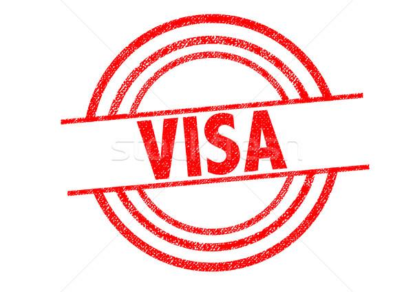 Visa blanche Voyage contrat passeport Photo stock © chrisdorney