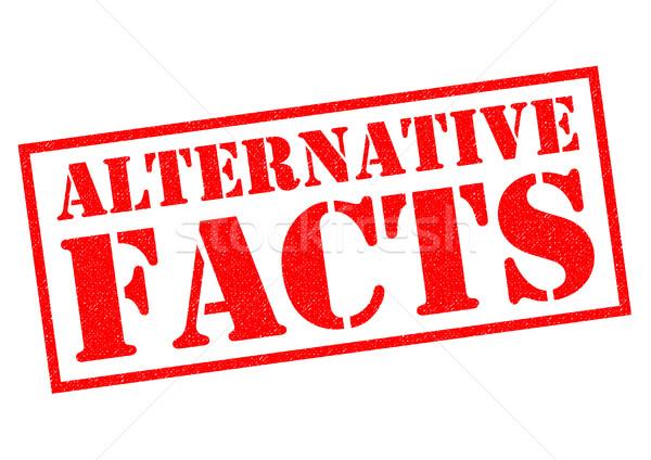 Alternativa fatos vermelho branco notícia Foto stock © chrisdorney