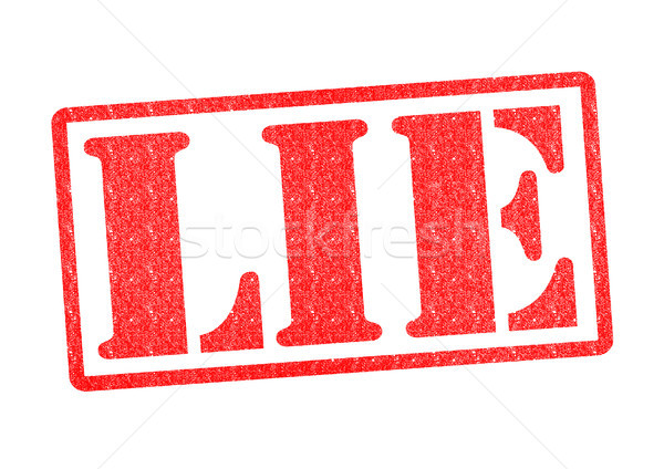 LIE Rubber Stamp Stock photo © chrisdorney