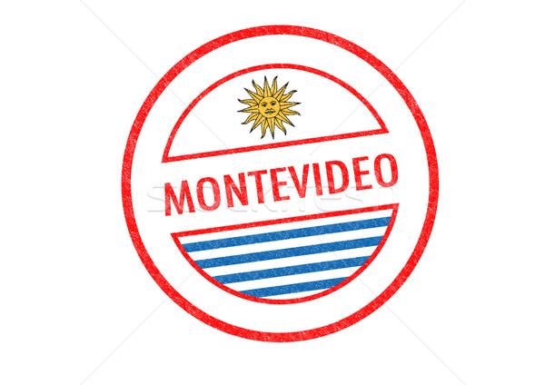 Montevideo beyaz bayrak tatil düğme Stok fotoğraf © chrisdorney