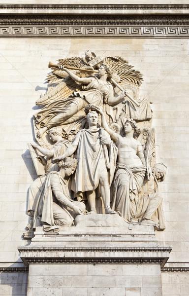 Сток-фото: подробность · Триумфальная · арка · Париж · красивой · Франция · искусства