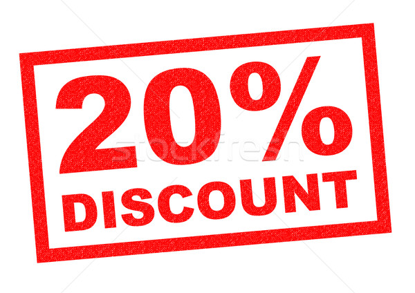 20% DISCOUNT Stock photo © chrisdorney