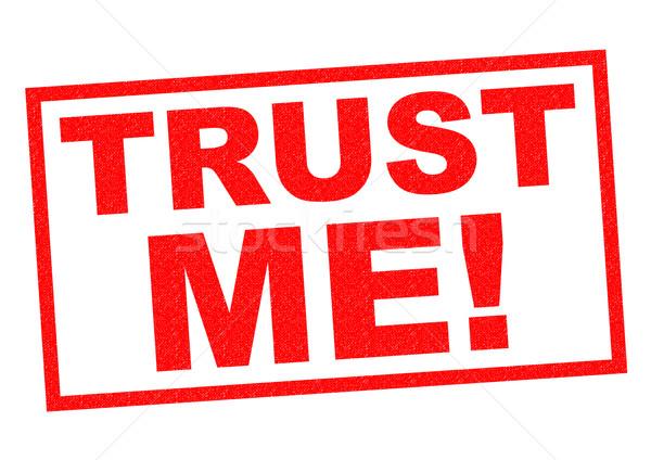 доверия мне красный белый безопасности Сток-фото © chrisdorney