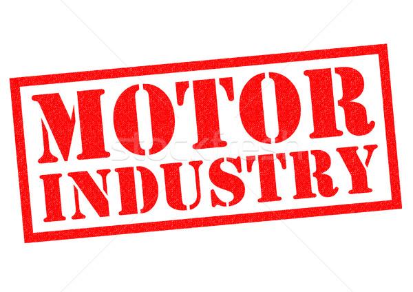 Motor промышленности красный белый бизнеса Сток-фото © chrisdorney
