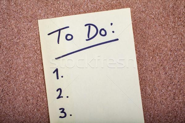Para fazer a lista trabalhar compras trabalhando comunicação Foto stock © chrisdorney