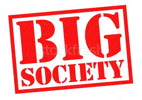Duży społeczeństwo czerwony biały pomoc Zdjęcia stock © chrisdorney
