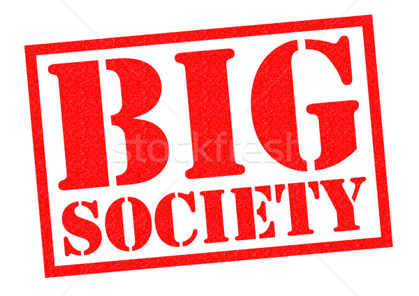 Grande sociedad rojo blanco ayudar Foto stock © chrisdorney