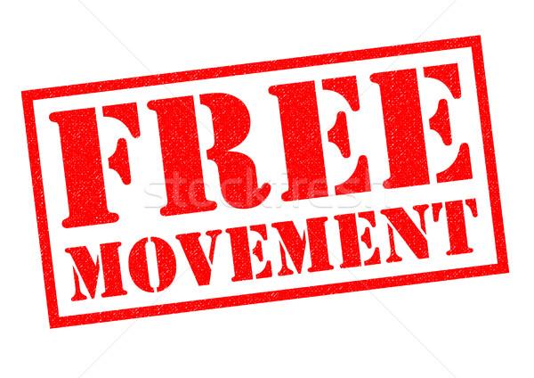 FREE MOVEMENT Stock photo © chrisdorney